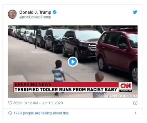 """特朗普推特发推文:讽刺 CNN""""假新闻"""""""